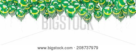 Balloons Frame With Flag Of Mauritania