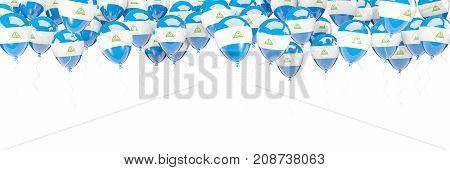 Balloons Frame With Flag Of Nicaragua