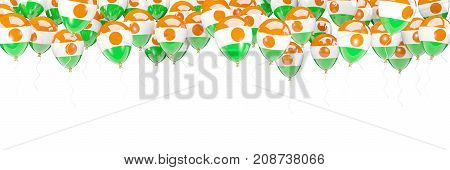 Balloons Frame With Flag Of Niger