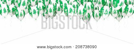 Balloons Frame With Flag Of Norfolk Island