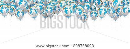 Balloons Frame With Flag Of Northern Mariana Islands