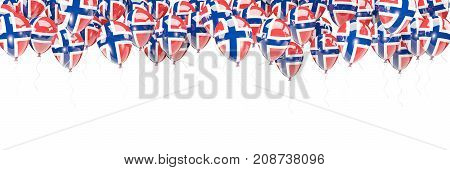 Balloons Frame With Flag Of Norway
