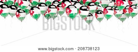 Balloons Frame With Flag Of Palestinian Territory