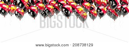Balloons Frame With Flag Of Papua New Guinea