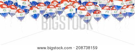 Balloons Frame With Flag Of Paraguay