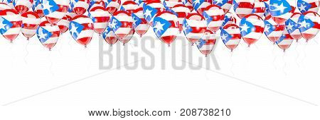 Balloons Frame With Flag Of Puerto Rico