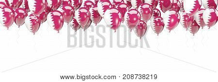 Balloons Frame With Flag Of Qatar
