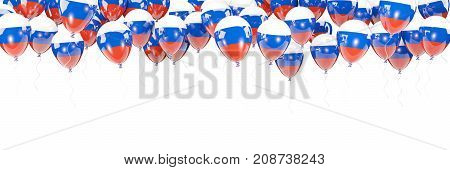 Balloons Frame With Flag Of Russia