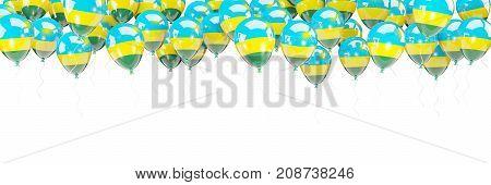 Balloons Frame With Flag Of Rwanda
