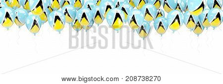 Balloons Frame With Flag Of Saint Lucia