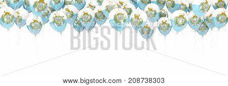 Balloons Frame With Flag Of San Marino