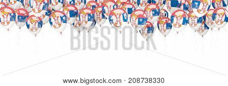 Balloons Frame With Flag Of Serbia