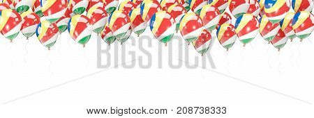 Balloons Frame With Flag Of Seychelles