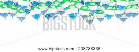 Balloons Frame With Flag Of Sierra Leone
