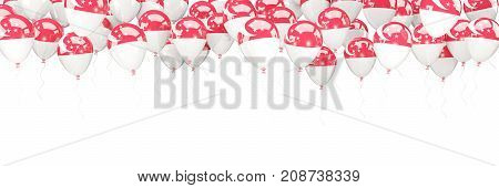 Balloons Frame With Flag Of Singapore