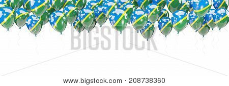 Balloons Frame With Flag Of Solomon Islands