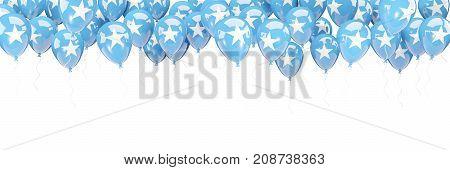 Balloons Frame With Flag Of Somalia