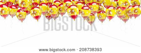 Balloons Frame With Flag Of Spain