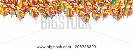 Balloons Frame With Flag Of Sri Lanka