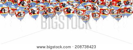 Balloons Frame With Flag Of Swaziland
