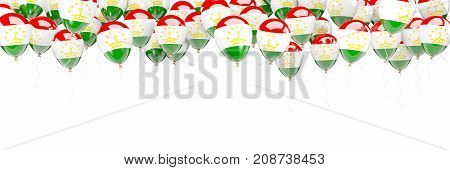 Balloons Frame With Flag Of Tajikistan