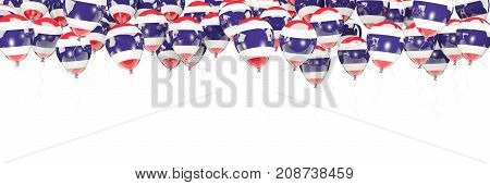 Balloons Frame With Flag Of Thailand