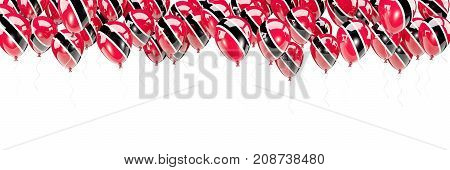 Balloons Frame With Flag Of Trinidad And Tobago