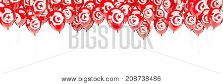 Balloons Frame With Flag Of Tunisia