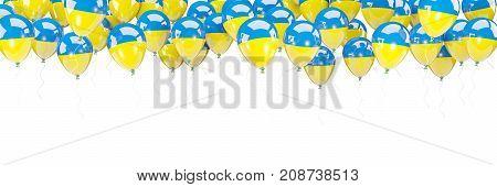 Balloons Frame With Flag Of Ukraine