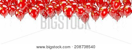 Balloons Frame With Flag Of Ussr