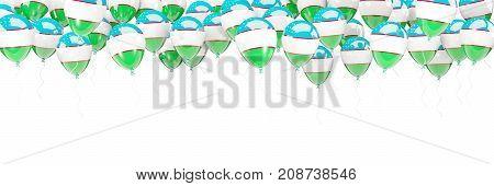 Balloons Frame With Flag Of Uzbekistan