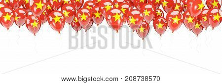 Balloons Frame With Flag Of Vietnam