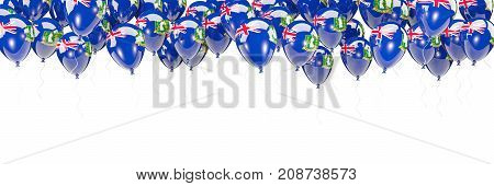 Balloons Frame With Flag Of Virgin Islands British