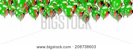 Balloons Frame With Flag Of Zambia