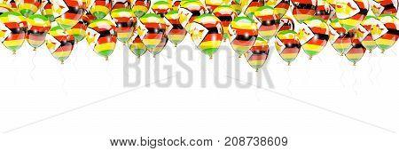 Balloons Frame With Flag Of Zimbabwe