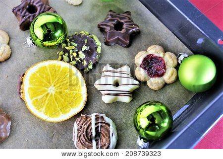 An image of christmas Cookies - food