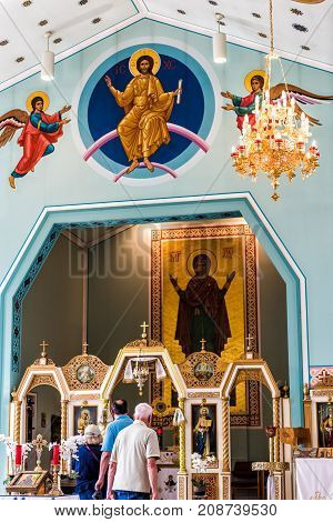 Silver Spring, Usa - September 16, 2017: Inside, Interior Of St. Andrew Ukrainian Orthodox Cathedral