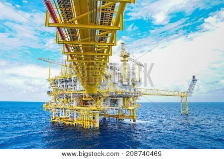 Oil and gas production platform Oil and Gas production and exploration business in the gulf of Thailand.