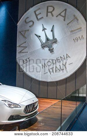 Maserati Label And Maserati Quattroporte
