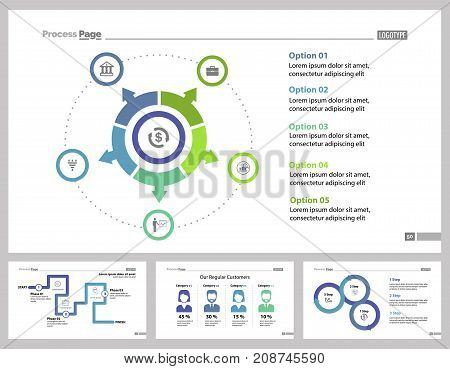 Infographic design set can be used for workflow layout, diagram, annual report, presentation, web design. Business and workflow concept with process and percentage charts.