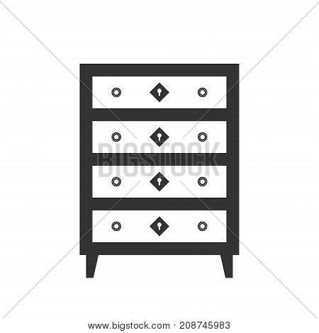 Highboy Flat Vector. It Is Executed In The Old And Modern Style.