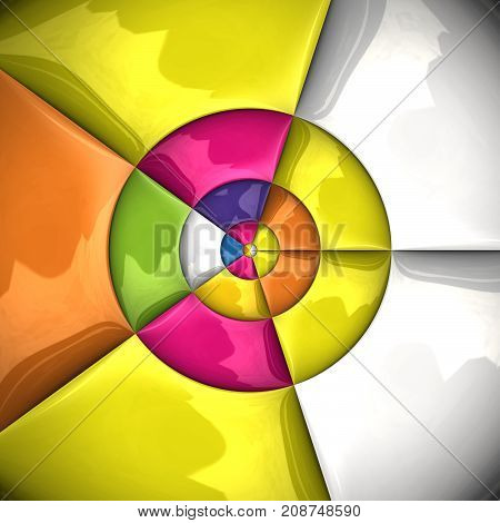 3D rendering combo artwork with glossy puffs triangles and circles pattern tile