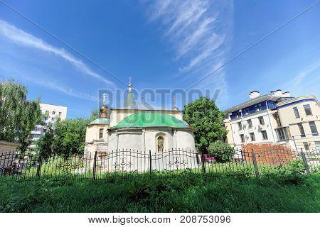 Nizhny Novgorod, Russia. - June 30.2016. Temple Of Praise Of The Blessed Virgin On Zalomov Street 21