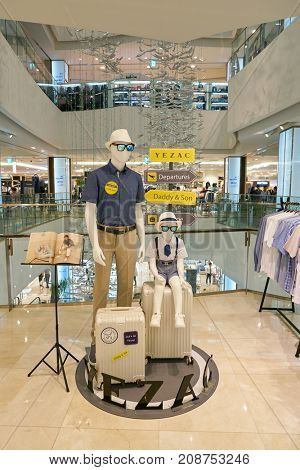 BUSAN, SOUTH KOREA - MAY 28, 2017: mannequins at Lotte Department Store in Busan.