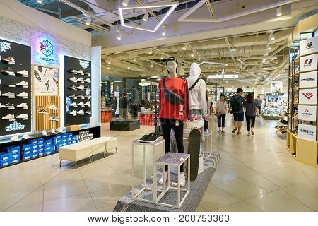 BUSAN, SOUTH KOREA - MAY 28, 2017: inside Lotte Department Store.