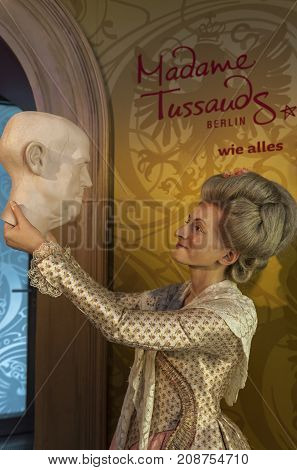 Berlin, Germany - March 2017: Madame Tussauds wax figure in Madame Tussauds museum