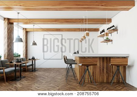 Bar Interior, Poster, Armchairs