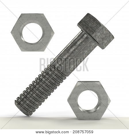 Percentage Sign Made From Bolt And Nuts