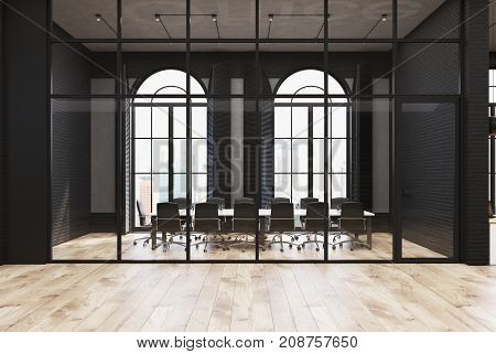 Black Brick And Glass Office, Meeting Room