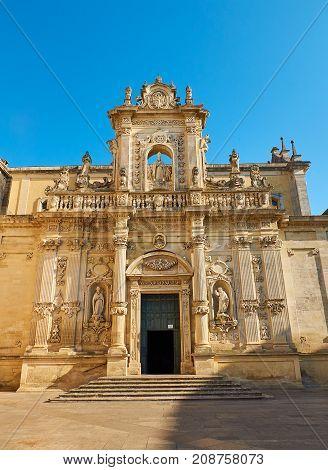Cattedrale Di Santa Maria Assunta Cathedral Of Lecce. Puglia, Italy.
